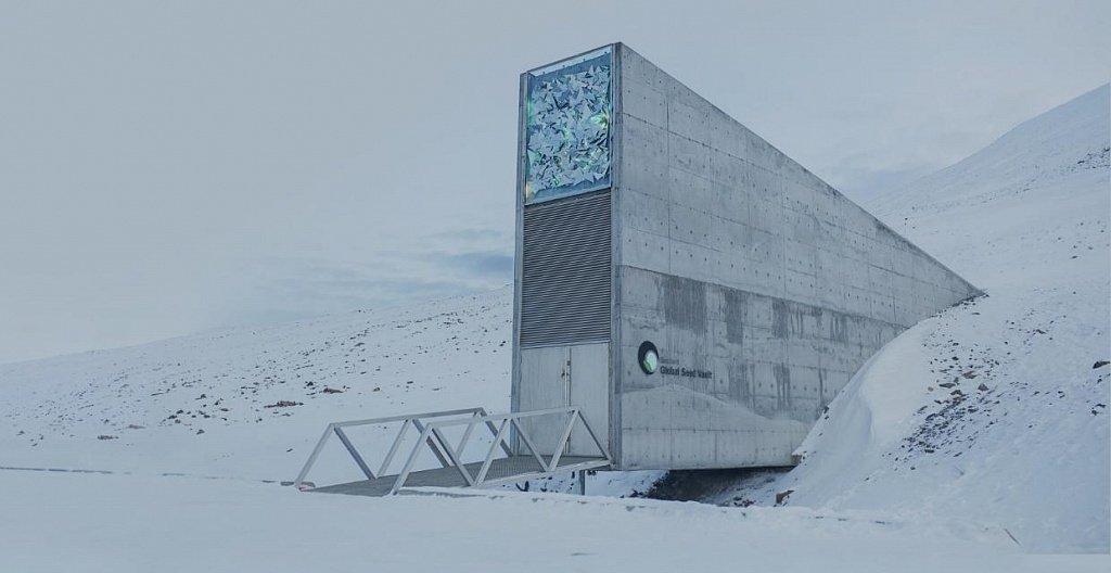Refugio Svalbard en Noruega - Entrada del refugio