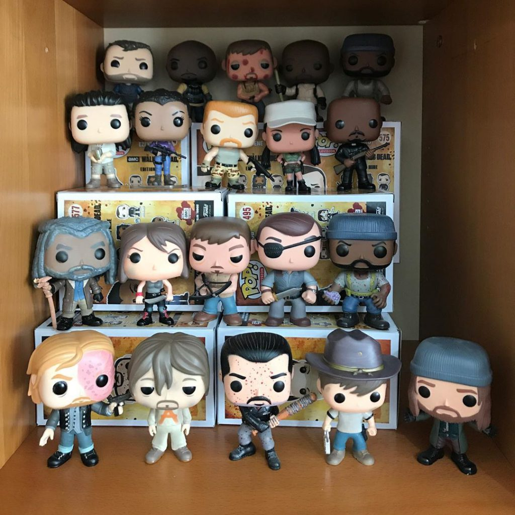 Colección de Funkos POP de The Walking Dead de Raquel de Zampaseries