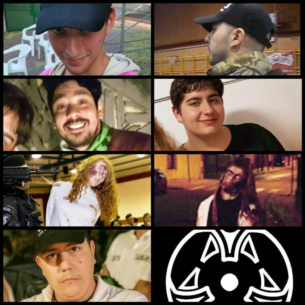 Dante el alpinista, Nuria la pelirroja, Nuria Killer, Dani, Luis, Krusty y Robber.