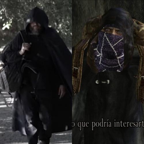 Pesonaje de La Sombra parecido a los Buhoneros de Resident Evil