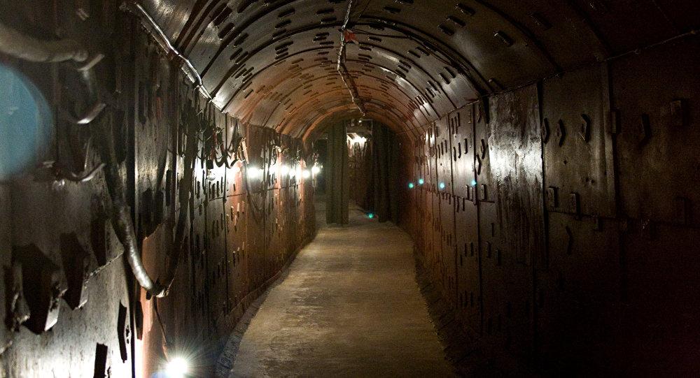 Entrada al bunker de Barcelona