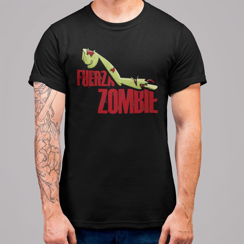 """Camiseta de hombre con el texto """"Fuerza Zombie"""""""