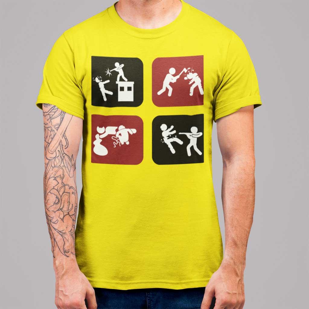 Camiseta de hombre icónica del género zombie