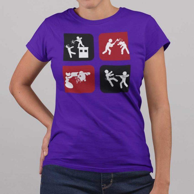 Camiseta de mujer icónica del género zombie
