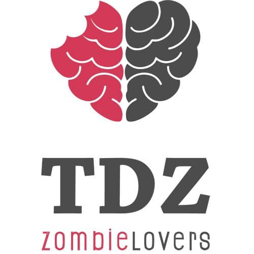 Logo de todo de zombie con la palabra zombielovers
