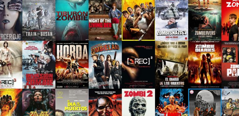 Covers de películas de zombies