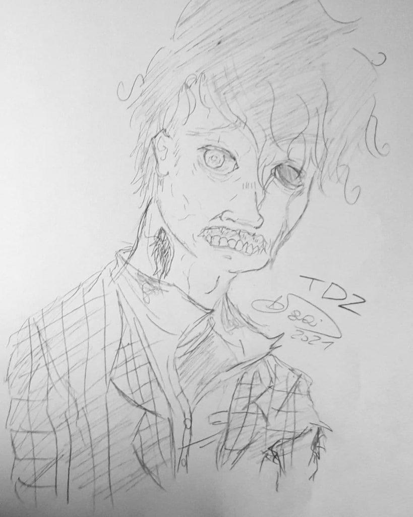 Zonmbie dibujado por Sagainewha