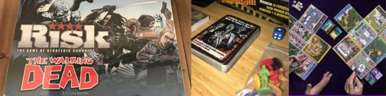 Información sobre diferentes juegos de mesa de temática Zombie. Risk The Walkind Dead, Zombies y Amanecer Zombie