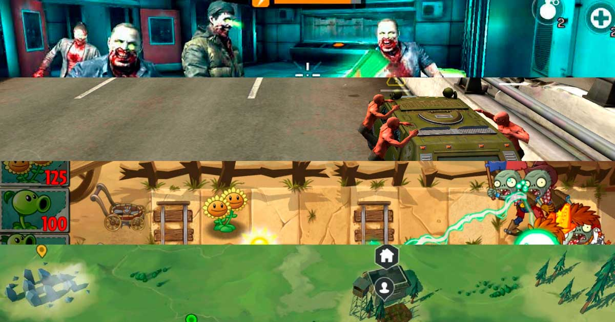 Juegos zombies gratis para Android e Iphone